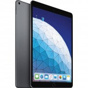 "Apple iPad Air (2019) 10.5"" MUUJ2 64GB WiFi with Tempered Glass Screen Protector and Folding Case (Black) - Space Gray (with 1 year official Apple Warranty)"