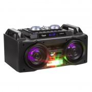Sistem Audio Activ Portabil cu Telecomanda, Microfon, Radio FM, Player MP3, Bluetooth, USB, AUX, Card SD, Functie Karaoke si Iluminare LED RGB, Putere 40W