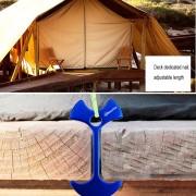 Tablon Cubierta Camping Hueso De Pescado Clavo, Clavo De Aluminio Tenks Viento Cuerda Cadena De Ancla (azul)
