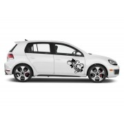 Sticker auto - Decoratiune cu frunze