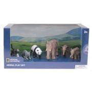 Set 6 figurine - Elefantul si puii Maimuta Raton Urs Panda NTB03005