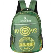 Dussledorf Leonardo Polyester 18 Liters Green Water resistant Backpack (LEO-II-1414)