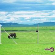 vidaXL Žičana ograda od pocinčanog čelika sa stupovima 1,95 x 15 m