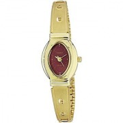 Timex Quartz Red Oval Women Watch JW13