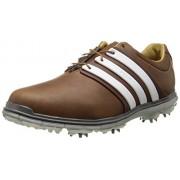 adidas Men's Pure 360 LTD Golf Shoe Tan Brown/Tour White/Silver Metallic 9.5 D(M) US