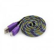 Kabl USB 2.0 na microUSB M/M ljubičasta S-Box, 1m