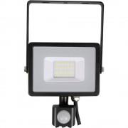 LED vanjska stropna svjetiljka s detektorom pokreta 20 W Neutralno-bijela V-TAC VT-20-S 452 Crna