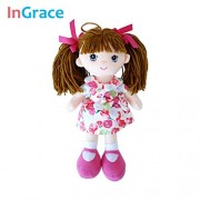 Soft Fashion Girls Mini Dolls Plush And Stuffed Flower Dress Girls Toys Baby Girl'S First Doll Mini 25Cm