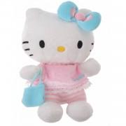 Jemini Hello Kitty Knuffel Bean Bag meisjes lichtblauw 15cm