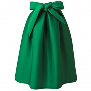 Falda Pure Color A-Line-Verde