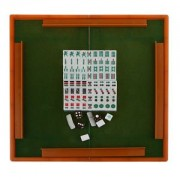 ELECTROPRIME Mini Mahjong Tile Set Travel Board Game Chinese Traditional Games Blue ML006