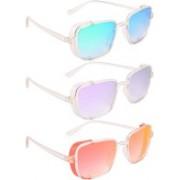 NuVew Wayfarer, Shield Sunglasses(Green, Blue, Violet, Red, Golden)