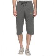 Vimal-Jonney Dark Gray Cotton Blended Capri For Men