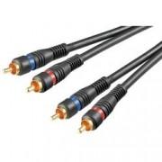 Goobay Cavo Audio 2RCA M/M 1.5mt Alta qualità