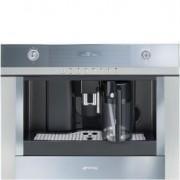Smeg 60x45cm Linea Built-in Coffee Machine, Silver-mirrored Glass - CMSC451