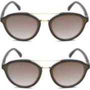 GAGAN Oval Sunglasses(Multicolor)