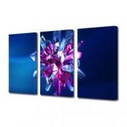 Tablou Canvas Premium Abstract Multicolor Stea De Gheata Colorata Decoratiuni Moderne pentru Casa 3 x 70 x 100 cm