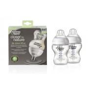 2 db 260 ml-es Anti-colic plus BPA-mentes Tommee Tippee Cumisüveg duo pack + Ajándék
