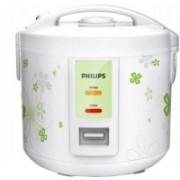 Philips HD3017/57 / HD3017/08 Electric Rice Cooker with Steaming Feature(1.8 L, White, Green)