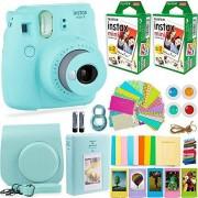 Deals Number One Fujifilm Instax Mini 9Conjunto de cámara y accesorios:cámara, película instantánea (40hojas), funda de transporte, filtros de colores, álbum de fotos, pegatinas, lente para selfies + más