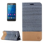 Horizontal Flip Canvas Leather Case with Card Slot & Holder for Samsung Galaxy Grand Prime / G530 (Blue)
