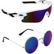Zyaden Combo of 2 Sunglasses Sport and Round Sunglasses- COMBO 2787