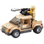 Army Defend Desert Soldiers Military Series Building Bricks Toy Set 79pc Educational Blocks Compatible To Lego Parts - Great Gift For Children