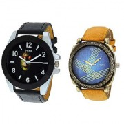 Oura Analog Multi-Color Casual Wear Men'S Watch- Pack Of 2-Co-845