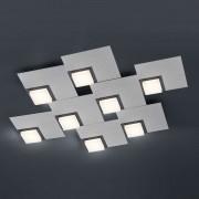 BANKAMP Quadro LED ceiling light 64 W, silver