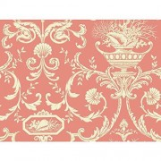 York Wallcoverings Casabella II Neoclassic Shells Wallpaper Memo Sample, 8 by 10-Inch, Coral, Cream, Beige