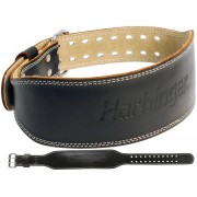 Harbinger Fitness Harbinger 4 Inch Padded Leather Belt - M