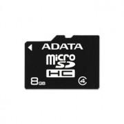 MICRO SD CARD ADATA; model: AUSDH8GCL4-R; capacitate: 8 GB; clasa: 4; culoare: NEGRU