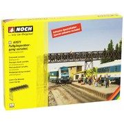 HO Scale Variable-Length Pedestrian Overhead Bridge Extension -- Laser-Cut Card Kit for Use w/528-67070