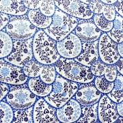 ONA, virágos, mézeskalács mintás spanyol lakástextil, dekorvászon, 280 és 140 cm széles