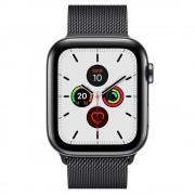 Apple Watch Series 5 GPS 40mm + Cellular Aço Inoxidável Preto Sideral com Bracelete Metálica Preta
