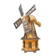 Windmühle Drew-Handel W32/D 100cm hölzerne Windmühlen-Gartendekoration aus wetterbeständigem Weichholz