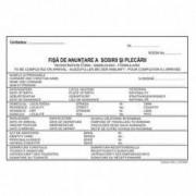 Fisa Cazare Sosiri si Plecari in Format A5 2 Exemplare 50 Seturi pe Carnet - Tipizate Fisa Cazare BrandPaper