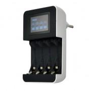 SOLIGHT Nabíječka baterií Solight DN25 s LCD displejem pro 4 x AA, AAA řízená mikroprocesorem