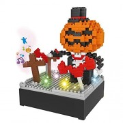 Topgalaxy.Z Halloween Treats & Tricks Halloween decoration Building Kit.halloween pumpkins treat DIY Building Toys