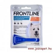 3db Frontline Spot On S kullancs, bolha ellen kistestű (2-10kg) kutya számára