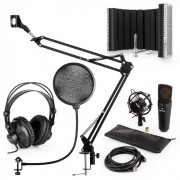 auna MIC-920B USB Conjunto de Microfone V5 Auscultadores Suporte Filtro Anti Pop Escudo