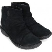 Clarks Avington Swan Boots For Women(Black)