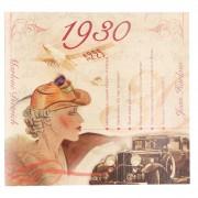 Merkloos Verjaardag CD-kaart met jaartal 1930
