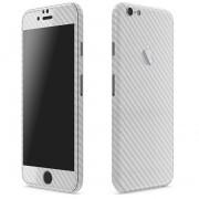 Apple iPhone 6 Plus / 6s Plus FoliaTa Skin Kit Carbon Fata / Spate, Silver