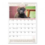 Puppies Monthly Wall Calendar, 12 X 17, 2017