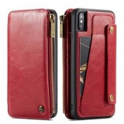 Apple Multifunktionell CaseMe läderplånbok för iPhone XS Max - Röd
