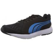 Puma Men's Descendant Black and White Fabric Running Shoes - 7 UK/India (40.5 EU)