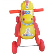Oh Baby Multi color Rocking Plastic Horse With Wheel SE-RT-23