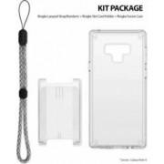 Set Samsung Galaxy Note 9 Ringke Fusion Husa Portcard Strap Transparent