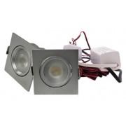 LED Set van 2 Inbouwspots - 4W - Chroom - Vierkant